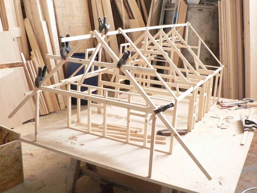 Batiment structure bois trieves maison durand charpente for Construire un batiment en bois